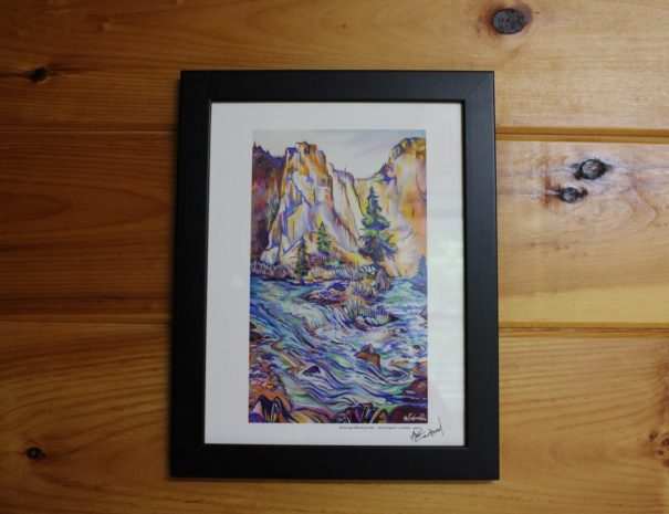 Iron Ring Cabin Watercolor Painting
