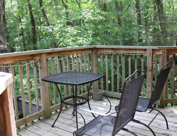 Holly Rock Treehouse Table on Deck