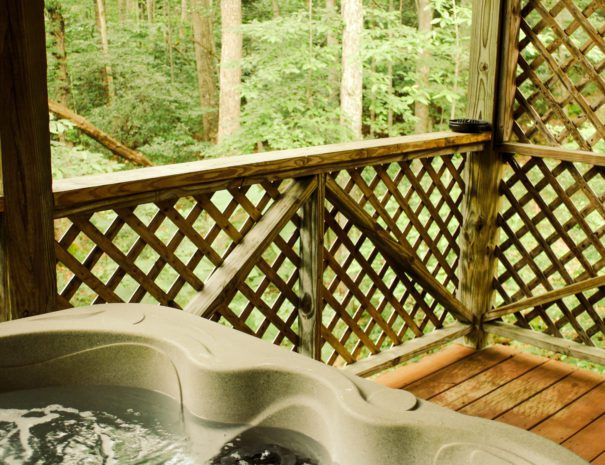 Almost Heaven Hot Tub & View