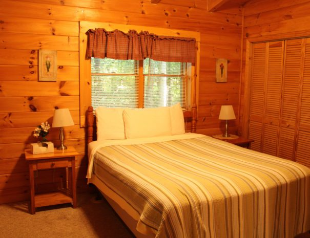 Lost Paddle Cabin Queen Bed