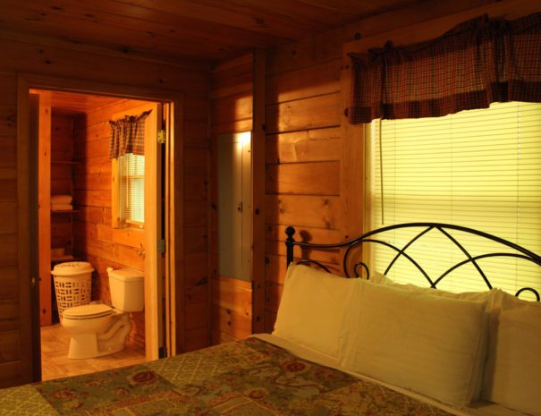 Lost Paddle Cabin King Bed