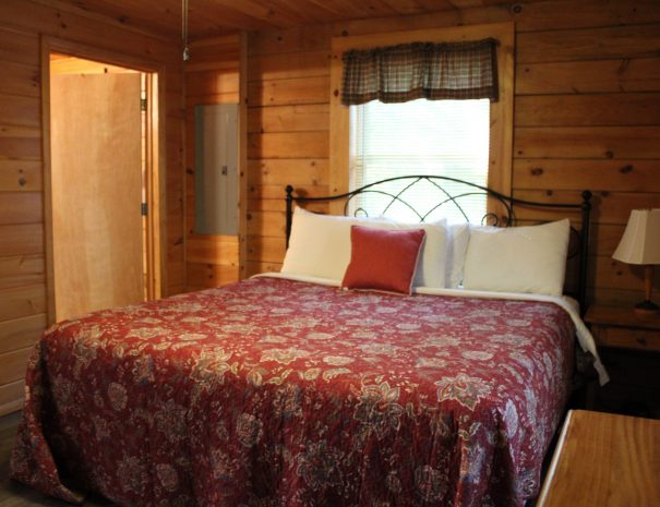 Lost Paddle Cabin King Bedroom 1