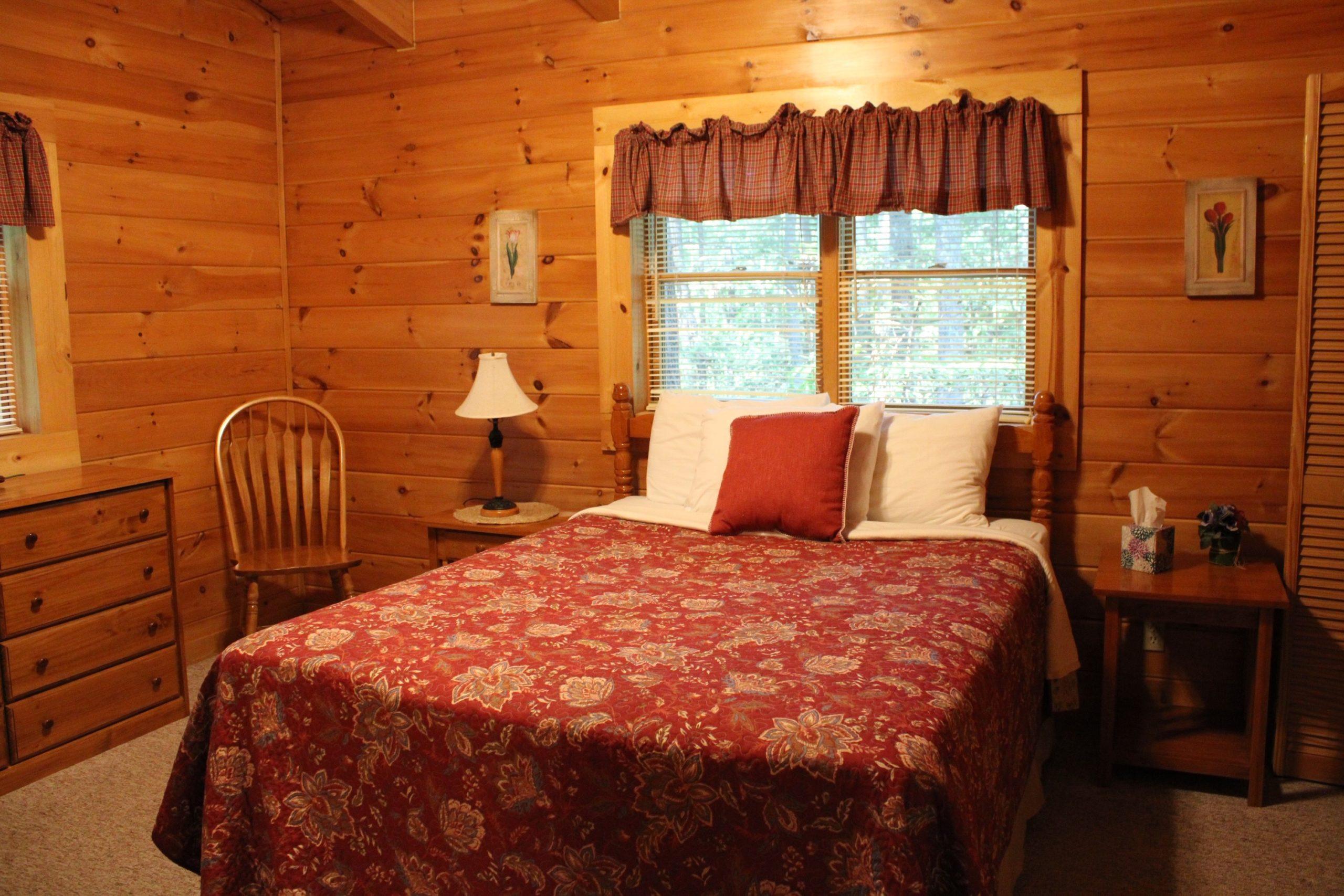 Lost Paddle Cabin Queen Bedroom 1