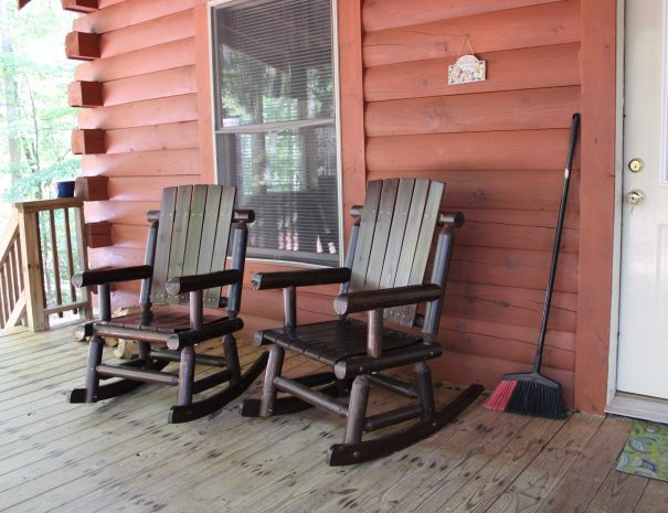 Lost Paddle Cabin Rocking Chairs on Deck