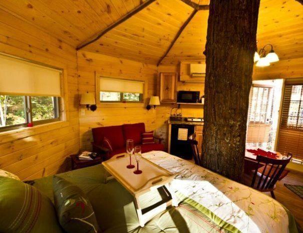 Holly Rock Treehouse Cabin Inside