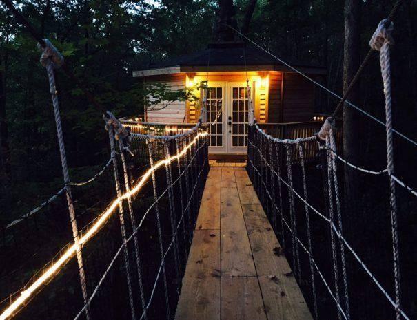 Holly Rock Treehouse Cabin Walkway