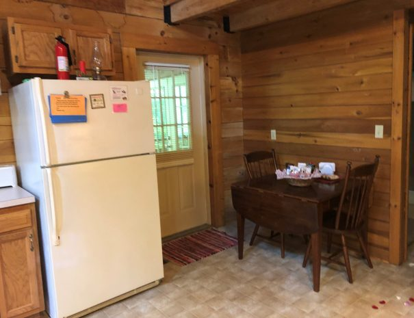Hideaway Cabin Kitchen Dining Area