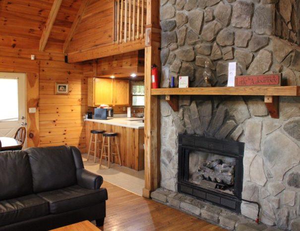 Jackson Cabin Living Room Fireplace