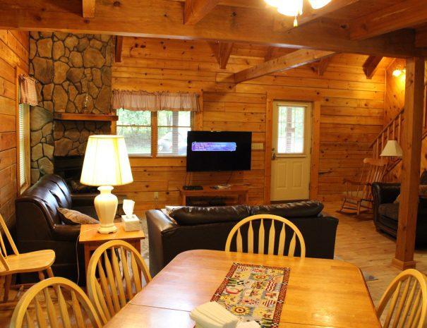 Pillow Rock Cabin Living Room 2