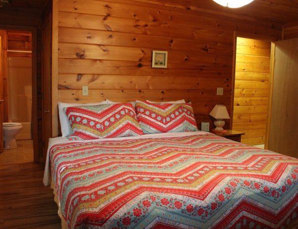Pillow Rock Cabin Main Floor Bedroom 1
