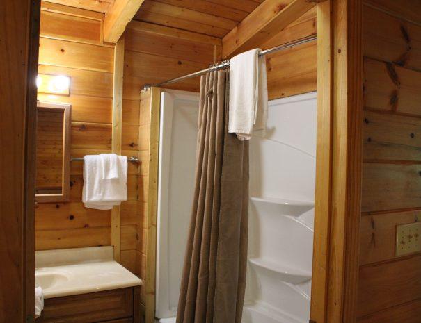 Pillow Rock Cabin Upstairs Bathroom 1