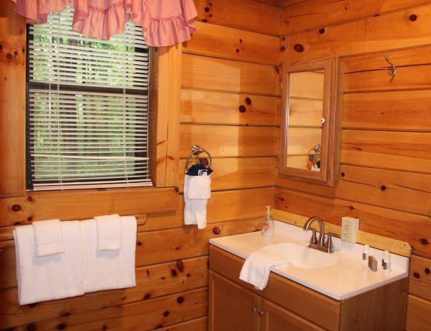 Spencer Cabin Lower Level Bathroom