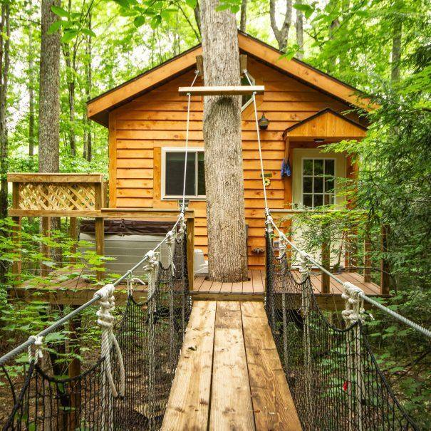 Tuscany Tree House Cabin Walkway and Porch