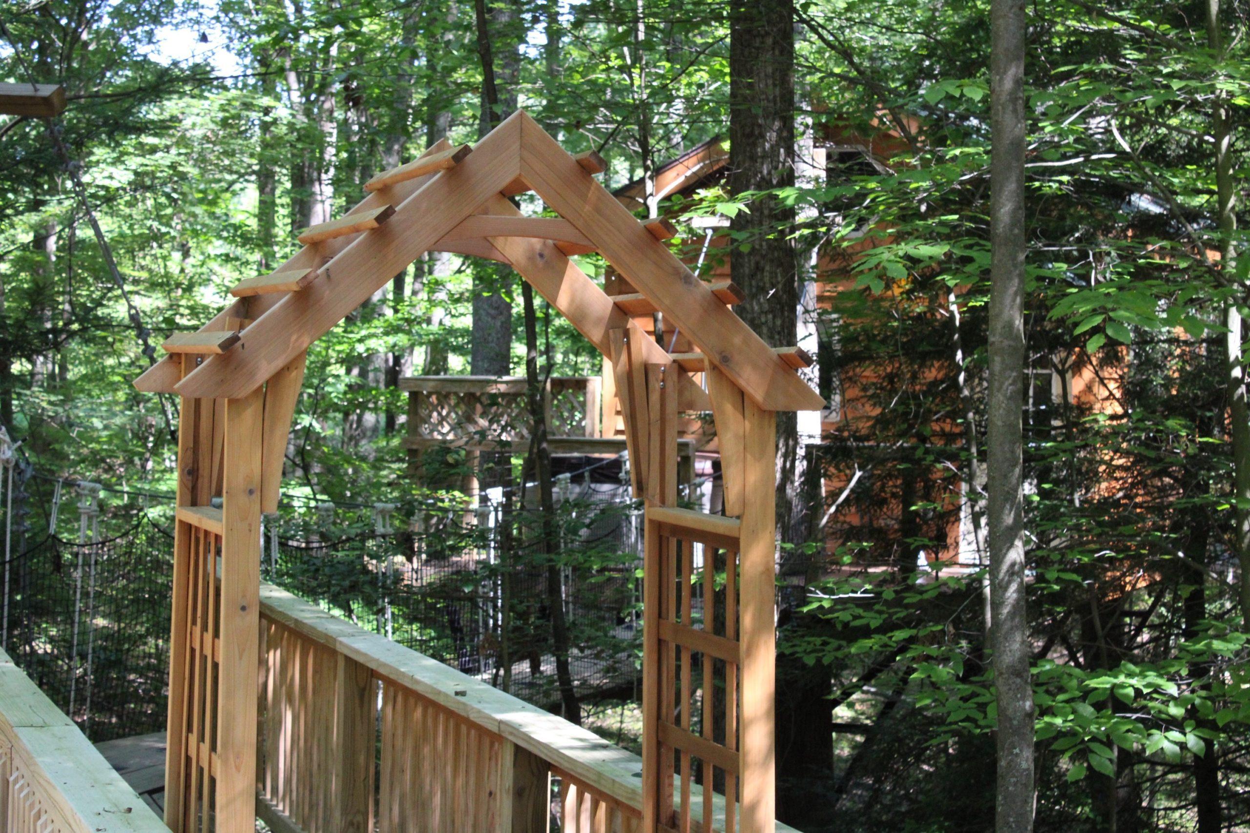 Tuscany Tree House Cabin Arch
