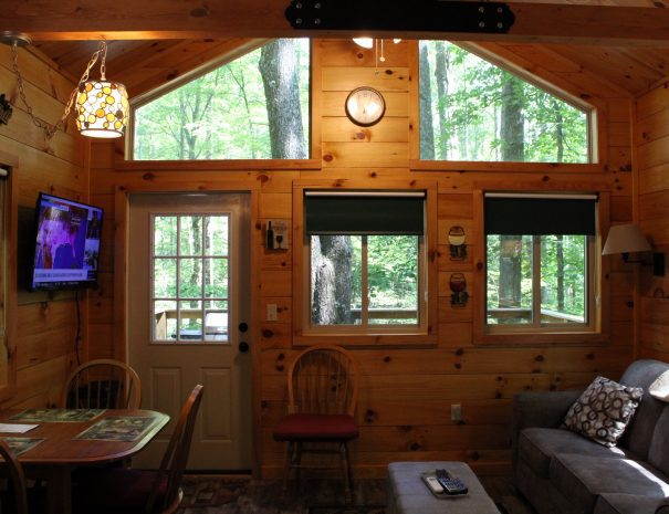 Tuscany Tree House Cabin Living Room