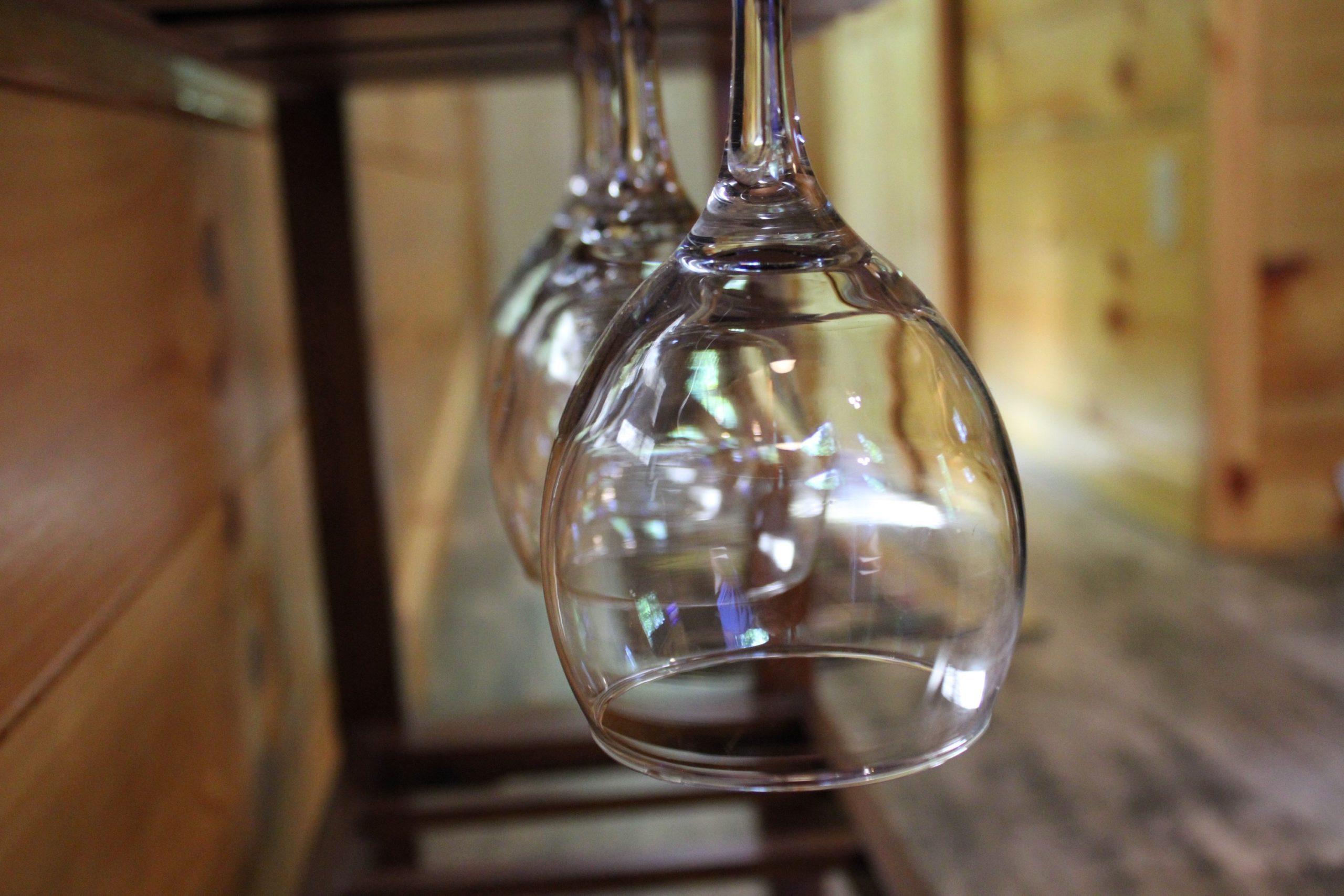 Tuscany Tree House Cabin Wine Glasses