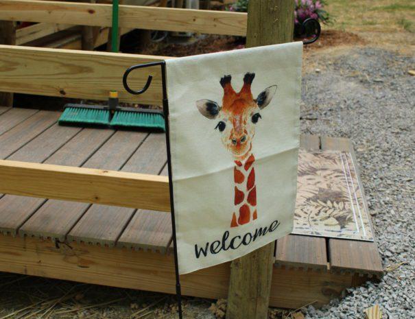 Safari Sun Giraffe Flag