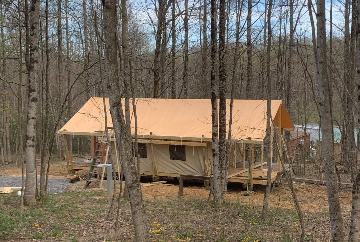 glamping tent coming soon