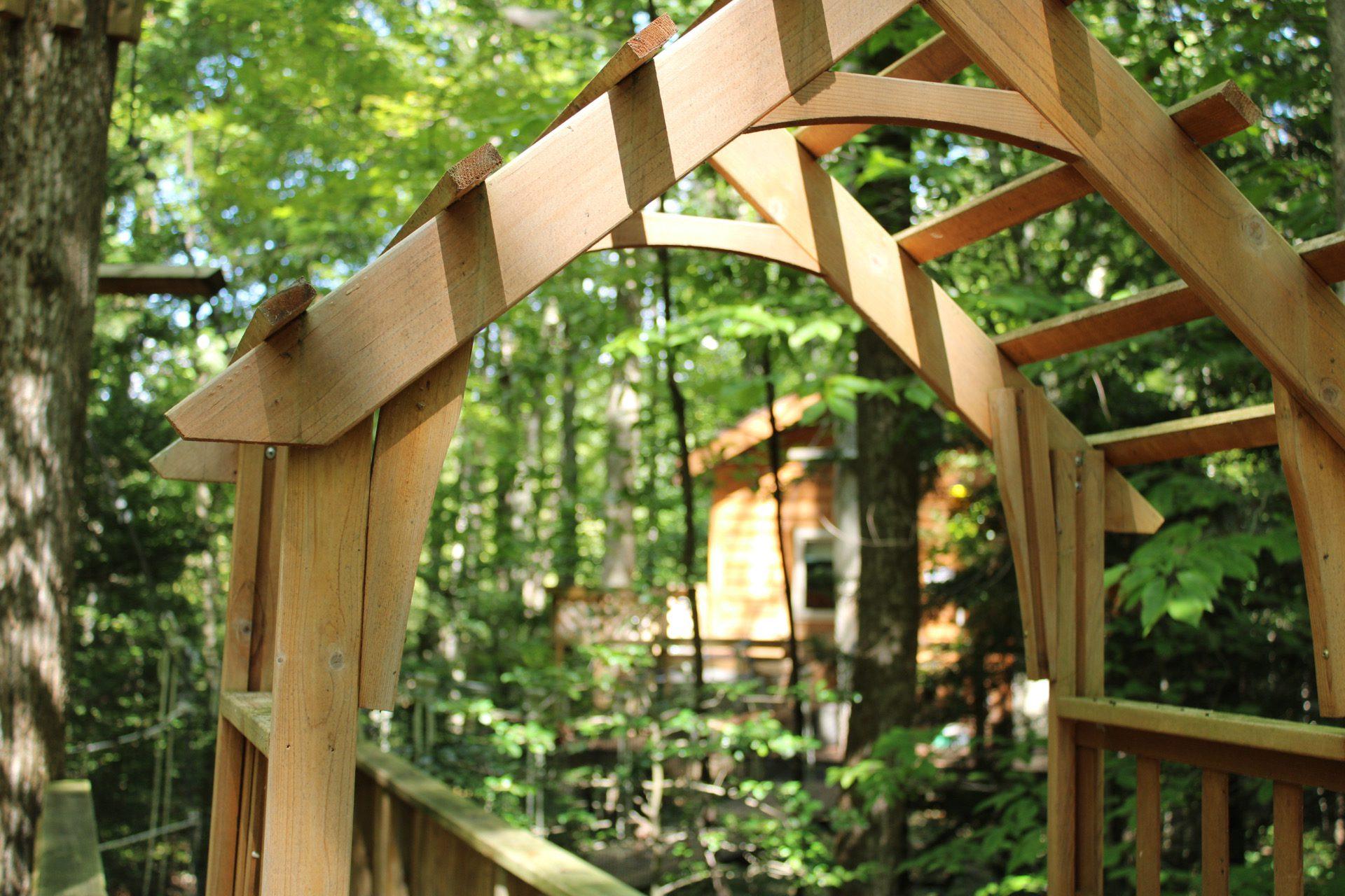 Tuscany Treehouse Archway and Bridge